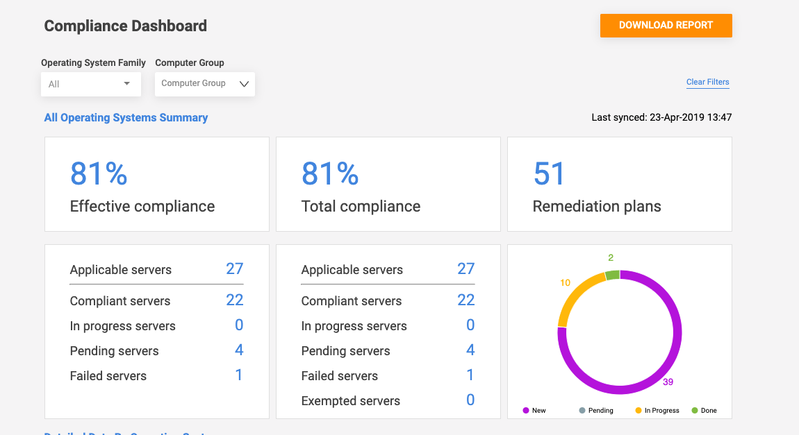 patch compliance reporting